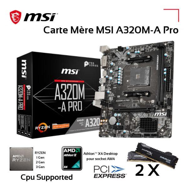 Carte Mère MSI A320M-A Pro Max Socket AM4 2*DDR4 image #01