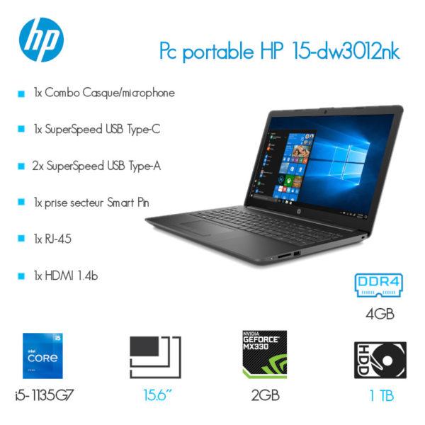 Laptop HP 15-dw3012nk i5-1135G7 4GB 1TB NVIDIA 2GB image #00