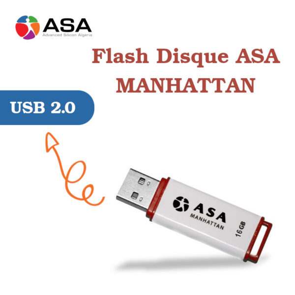 Flash Disque ASA MANHATTAN 16 GB avec indicateur led