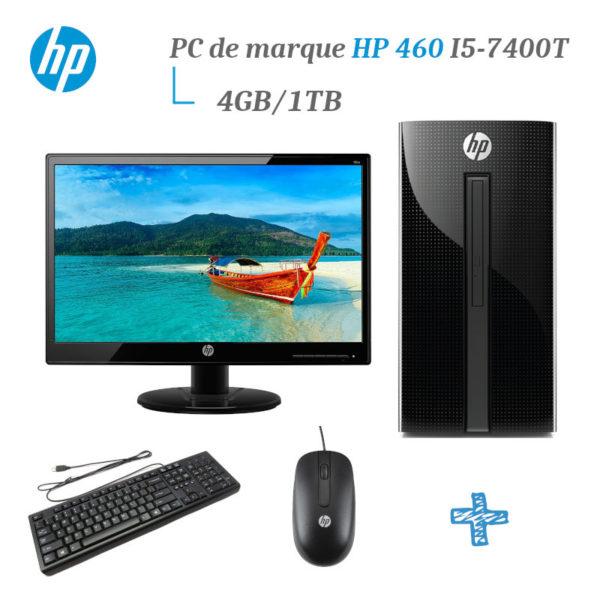 HP 460 i5-7400T 4GB 1TB pc de bureau + Ecran 19ka image #01