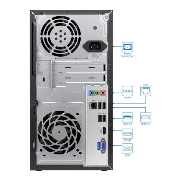 HP 460 i5-7400T 4GB 1TB pc de bureau + Ecran 19ka image #04