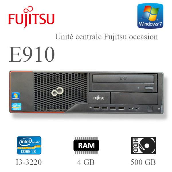 Unité centrale Fujitsu E910 I3-3220 4GB 500GB -occasion image #01