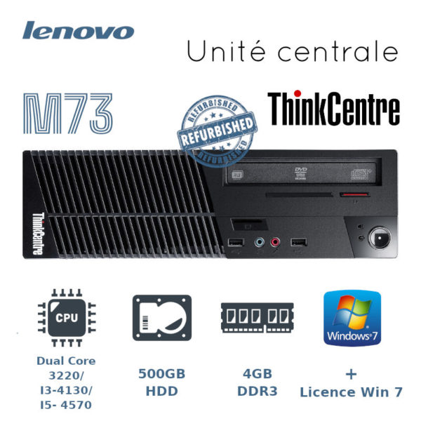 Unité centrale Lenovo ThinkCenter M73 -occasion image principale