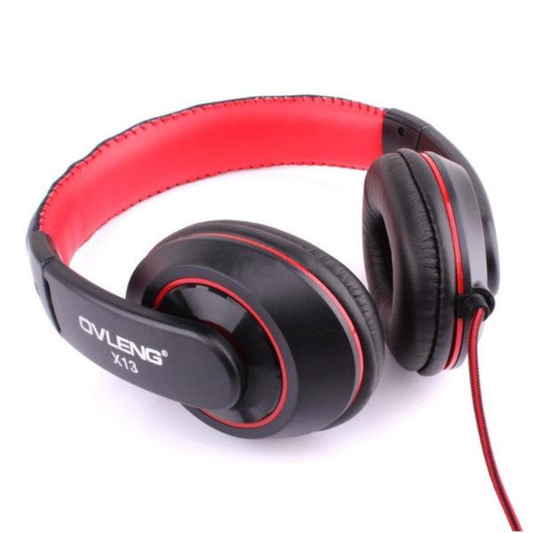 Casque Gaming filaire Ovleng X13 Jack 3.5mm rouge & noir image #04