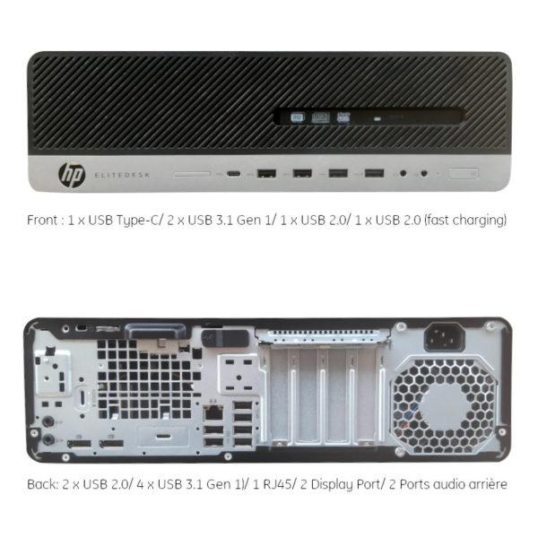 HP EliteDesk 800 G3 I5-6400 & I3-3100T 4Go 500 HDD image #02