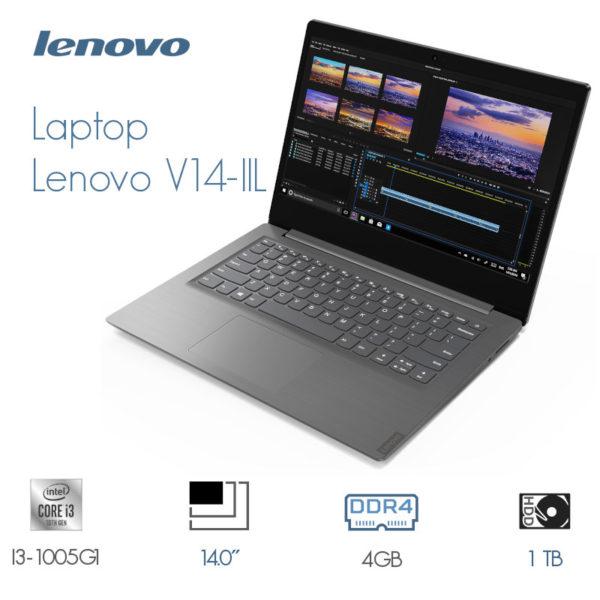 Laptop Lenovo V14-IIL I3-1005G1 4GB 1TB 14 Gris Souris image #01