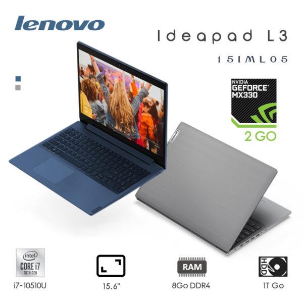 Lenovo IdeaPad L3 i7-10510U 8Go 1To 15.6 Abbyss Blue Gris 15IML05 81Y300AJFG-81Y300AKFG image #0