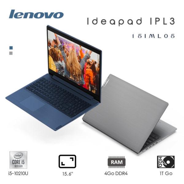 "Lenovo IdeaPad IPL3 i5-10210U 4Go/ 1To/ 15.6"" Blue & Gris"